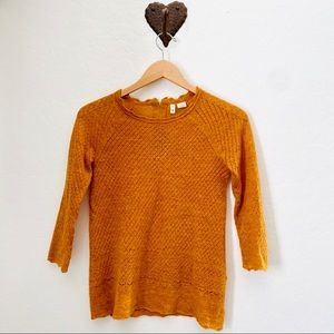 MOTH Burnt Orange Wool Knit Sweater
